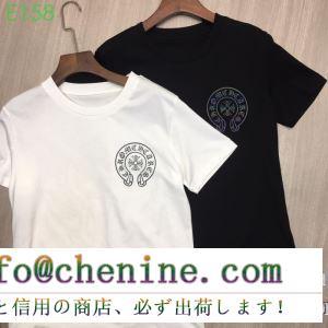 男女兼用 2色可選 2019春夏の流行をチェック 先シーズンに引き続き新品 クロムハーツ chrome hearts 半袖tシャツ
