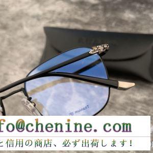 人気のブランドのアイテム2019 キレイ色チェック春夏 クロムハーツ chrome hearts 眼鏡 3色可選