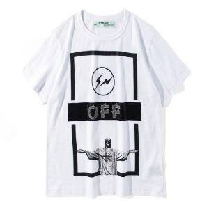 高品質を演出するOff-WhiteオフホワイトTシャツ格安 男女兼用 クルーネック半袖Tシャツ プリント ブラック ホワイト