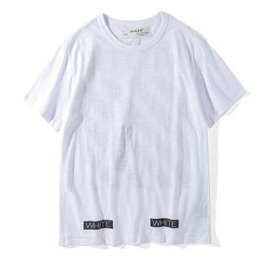 品質保証新作登場のOFF-WHITEオフホワイトTシャツコピーの男女兼用半袖の無地クルーネックTシャツコピー ブラック、ホワイト2色可選