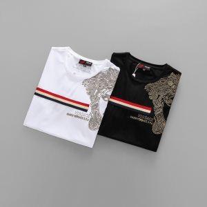 2018年夏の王道ブランド! 半袖Tシャツ 最旬! 2色可選 ヴェルサーチ VERSACE ランキング1位入賞