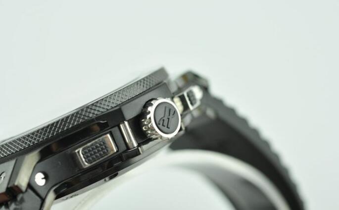 気圧防水の3針 ウブロ hublot ビッグバン 2つずつ数字表示の黒メンズ腕時計.
